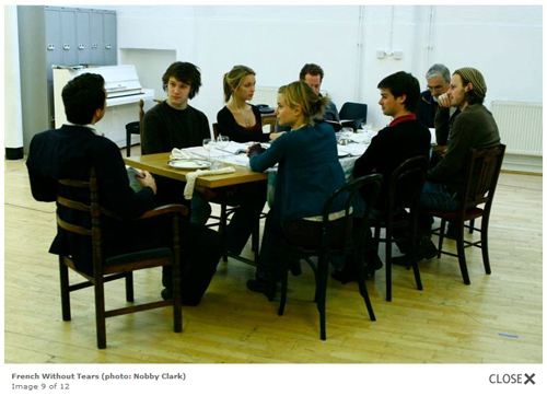 Rupert in rehearsals for French Without Tears