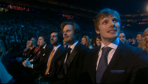 Alexander Vlahos, Eoin Macken, Rupert, and Bradley James at the NTAs
