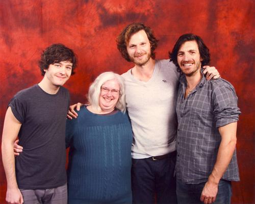 Alexander Vlahos, one lucky little vegemite, Rupert, and Eoin Macken