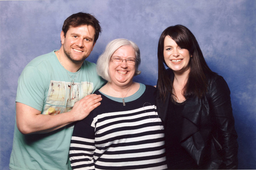 Kai Owen, me and Eve Myles