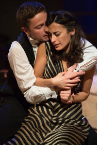 A production photo of Orlando Wells and Shereen Martin, courtesy of Nuffield Theatre; photo by Mark Douet.