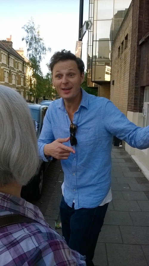 Rupert at the Old Vic stage door, photo by Mr B