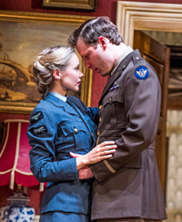 Alexandra Dowling as Lady Elizabeth and Rupert as Lt Mulvaney. Photo by Tristram Kenton